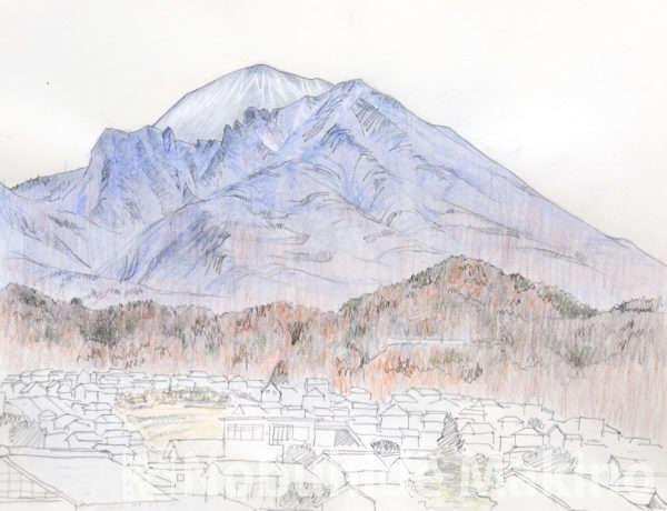 懐古園からの浅間山