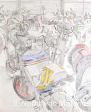 バイク屋(素描)