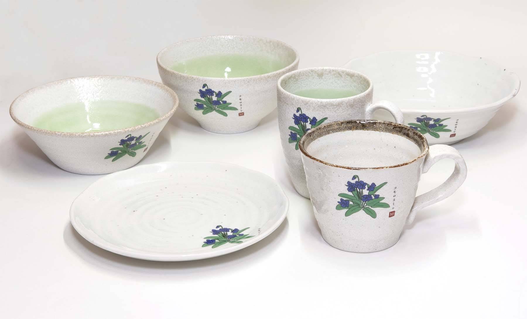 コモロスミレ陶器商品