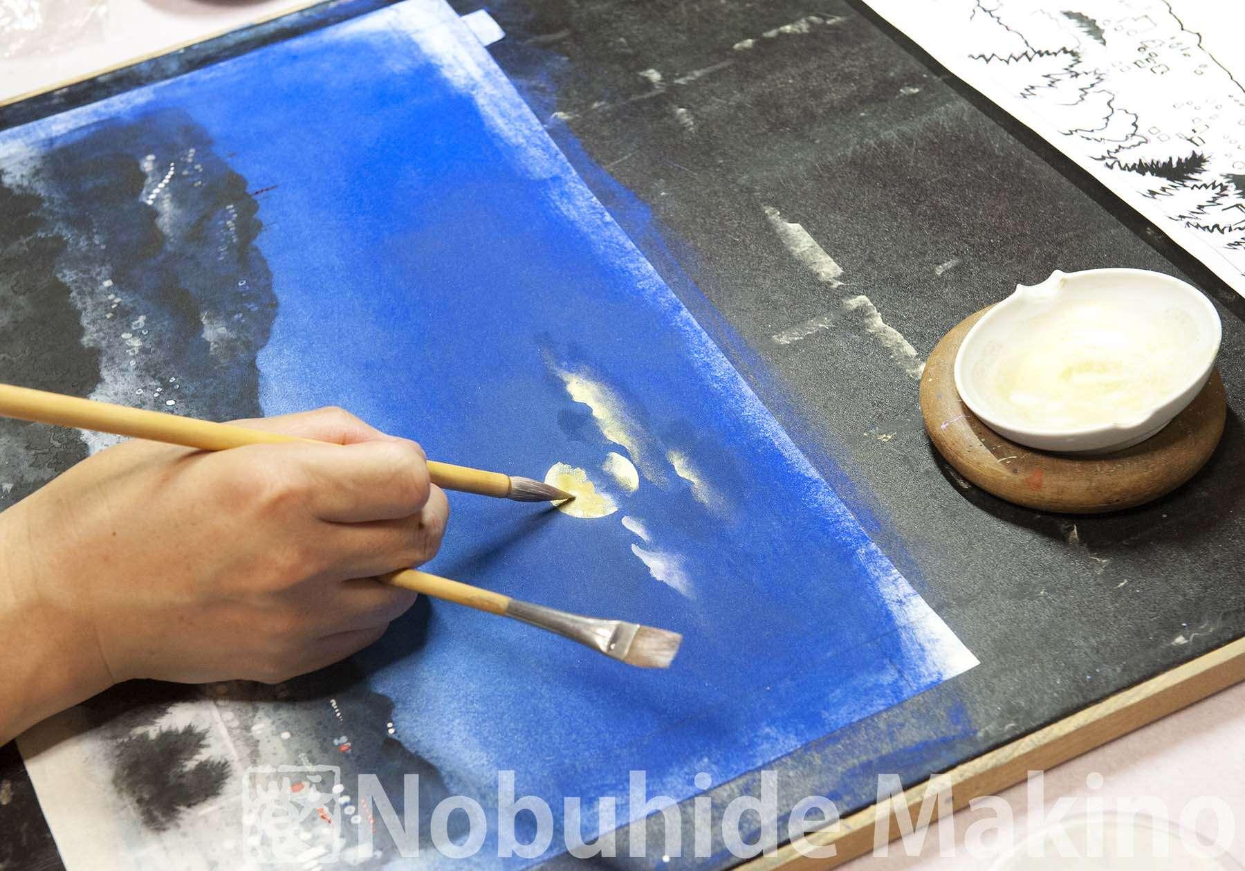 月光の街 制作過程